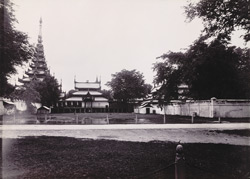 The Northern face of Palace, [Mandalay]